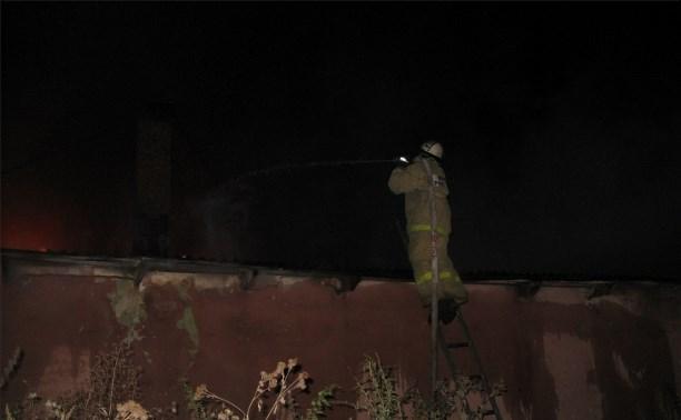 Ночью в Белеве горел один из цехов по производству белевской пастилы