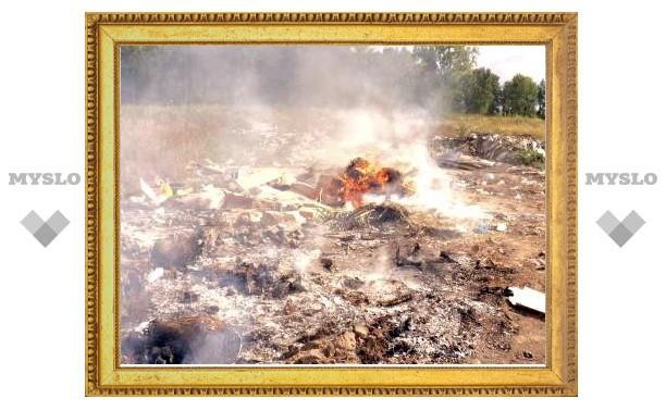 В Тульской области закрыли предприятие за горящую на территории свалку
