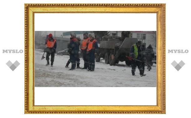 Тульские дорожники проспали снегопад