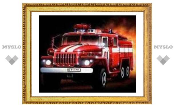 В Тульской области борются с пожарами