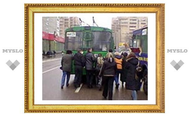 В тульском троллейбусном депо началась забастовка