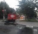 На улице Мира в Туле загорелся трёхэтажный дом