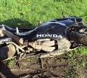 На трассе М2 «Крым» пьяный мотоциклист съехал в кювет