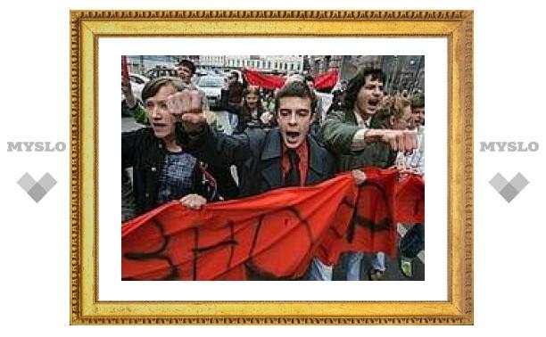 Акция протеста перекрыла главную улицу Тулы