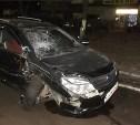На ул. Ложевой легковушка влетела в припаркованный грузовик