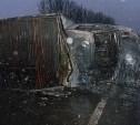 На трассе М4 столкнулись грузовая «Газель» и автобус «Вольво»