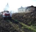 В Чернском районе сгорел дом