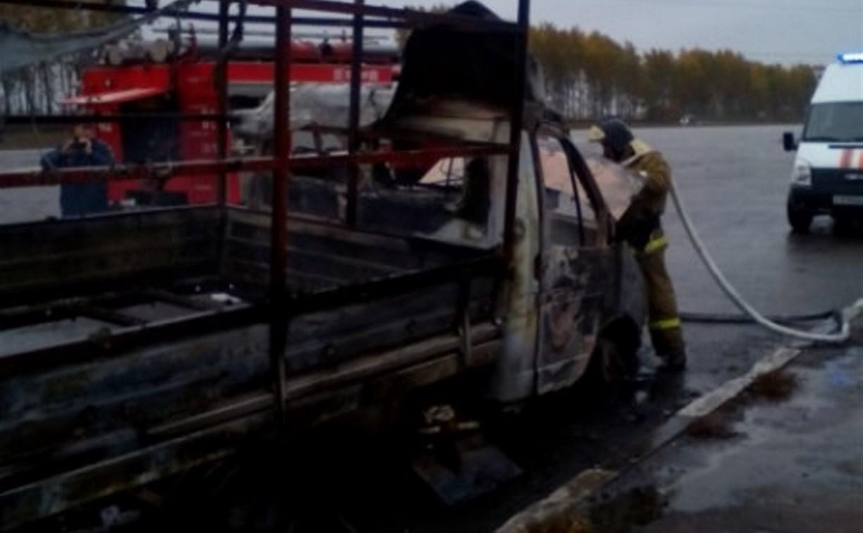 На трассе «Дон» в Киреевском районе сгорела грузовая «Газель»