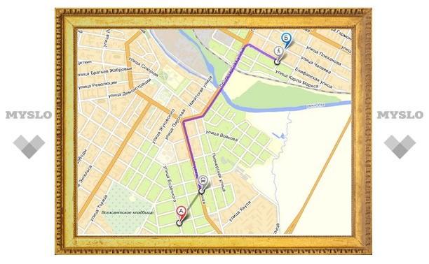 Яндекс.Карты покажут тулякам маршруты общественого транспорта
