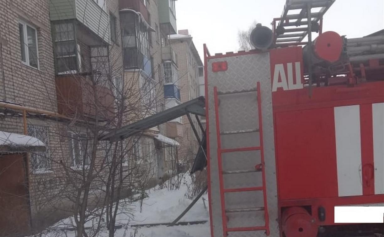 На пожаре в Ясногорске погиб мужчина