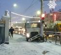 В Туле напротив Комсомольского парка грузовик протаранил столб