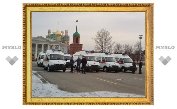 В больницы Тульской области поступило 11 машин скорой помощи