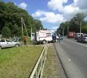 В Щекинском районе автобус столкнулся с легковушкой