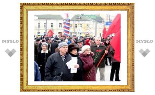 На площади Ленина прошел митинг