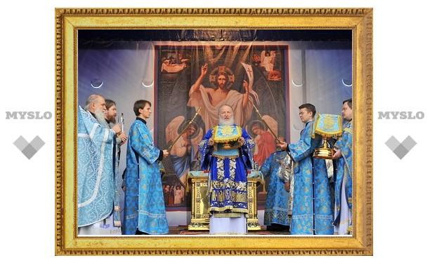 В праздник Рождества Пресвятой Богородицы Святейший Патриарх Кирилл совершил богослужение на площади Победы города Южно-Сахалинска