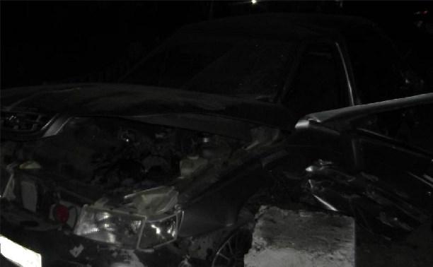 Под Белевом пьяный водитель ВАЗ-21115 влетел в отбойник моста