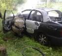В Алексине на площади Победы сгорела машина