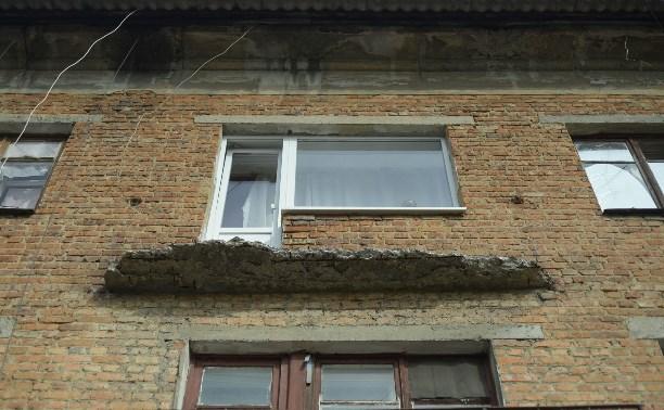 Под Тулой три человека едва не погибли при обрушении балкона