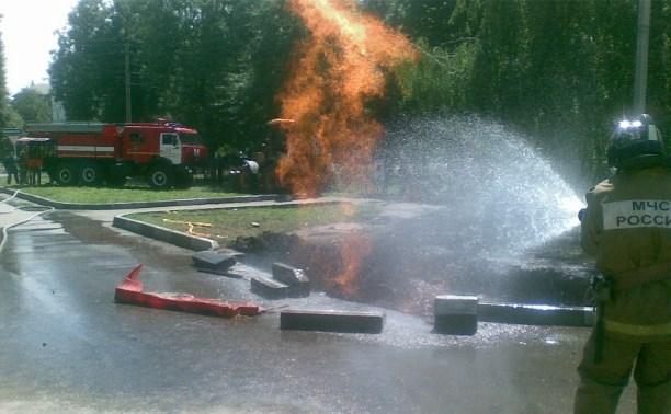 В Новомосковске загорелся газопровод