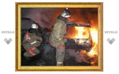 Туляк едва не сгорел в своей машине