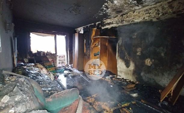 В пятиэтажке на ул. Маршала Жукова в Туле сгорела квартира