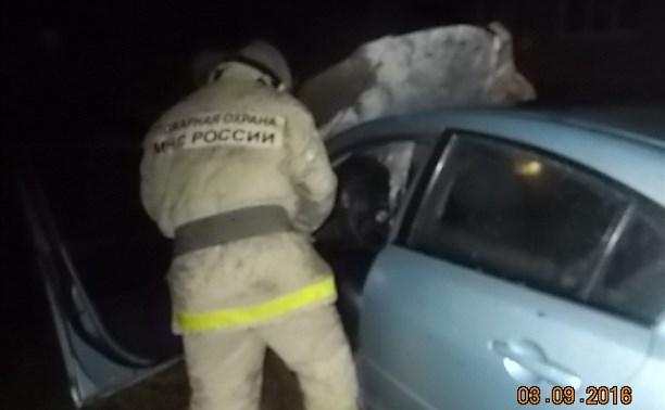 Ночью в Киреевском районе сгорела «Мазда»