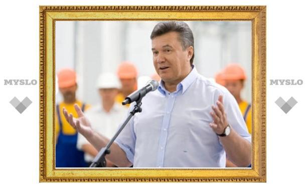 """""""Газпром"""" отверг предложение Януковича о переносе """"Южного потока"""""""