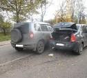 В Туле на улице Автомобилистов произошло тройное ДТП