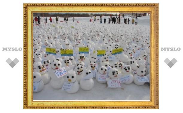 Снежные скульптуры в ЦПКиО