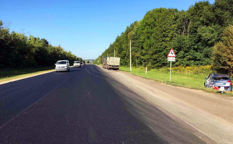 На трассе в Тульской области в ДТП с грузовиком пострадала годовалая девочка