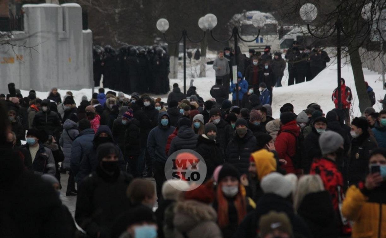 В Туле около 200 человек пришли на несанкционированный митинг