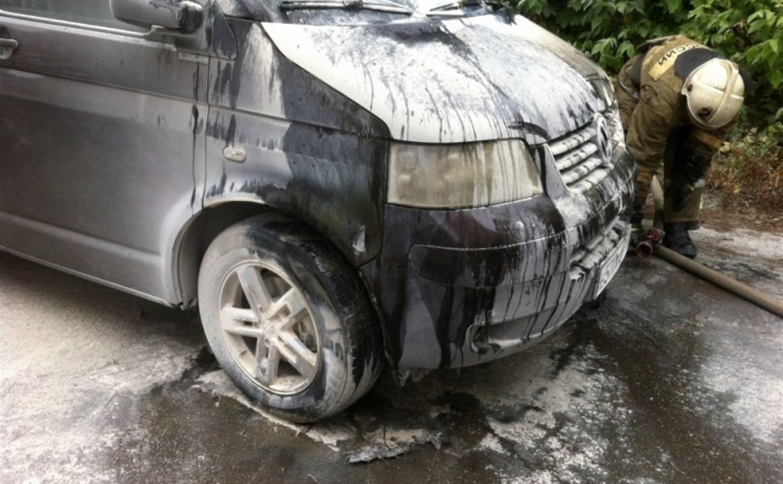 В Туле на улице Демонстрации сгорел «Фольксваген»
