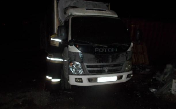 Ночью в Узловой сгорел грузовик