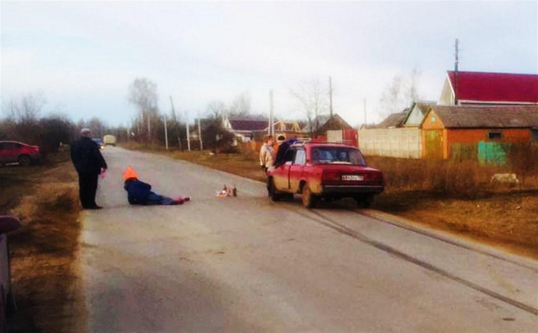 В Щекинском районе пенсионер на «семерке» сбил женщину