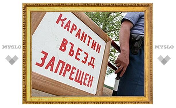 Колеса транспортных средств на участке дороги за Венёв-Монастырем будут дезинфицировать