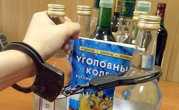 В Заокском районе москвич подозревается в краже алкоголя