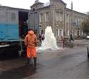 В Советском районе забил незапланированный фонтан
