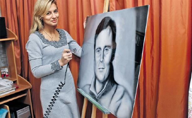 Тулячка нарисовала портрет губернатора