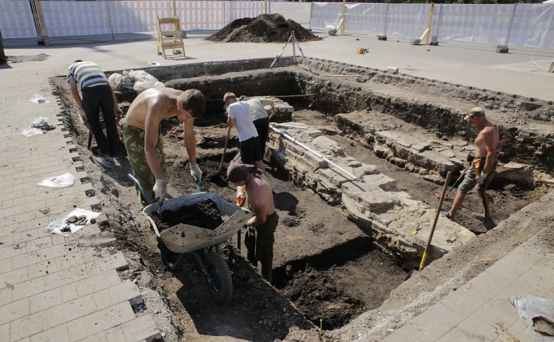 На территории Тульского кремля обнаружили фундамент собора XVII века