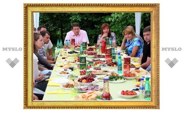 Тульский мэр устроил пикник для молодежи