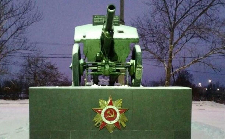 В Заречье на памятнике установили орден Отечественной войны