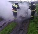 В Богородицке пожарные тушили загоревшуюся «Ладу Приору»