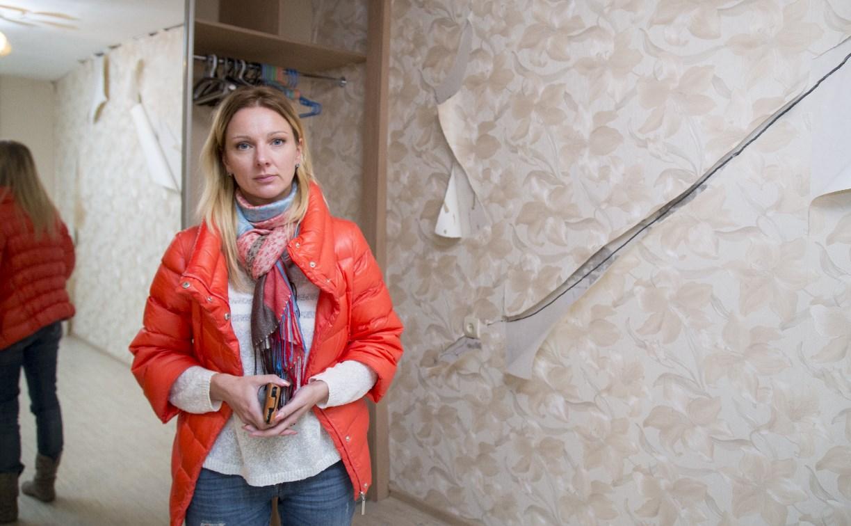 У тулячки в квартире «подвинулась» стена