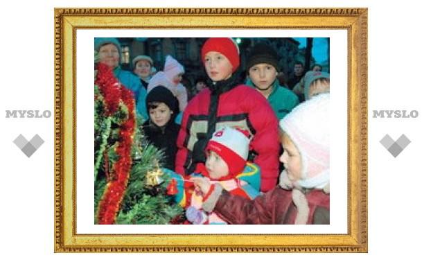 Туляки празднуют Новый год на улице