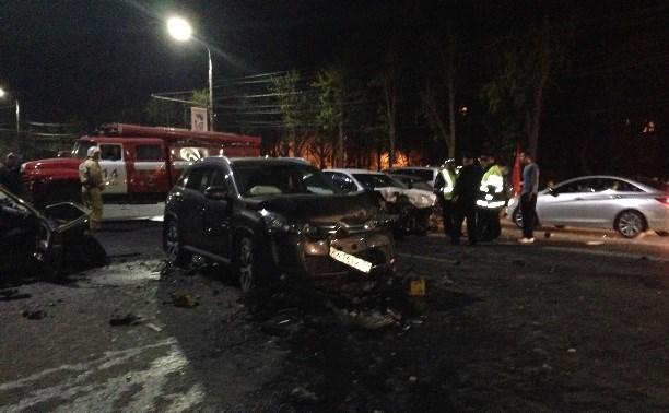Водителя, устроившего массовое ДТП на проспекте Ленина, заключили под стражу