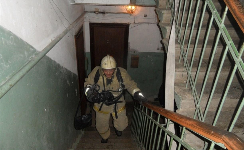 В Туле на ул. Шухова загорелась квартира