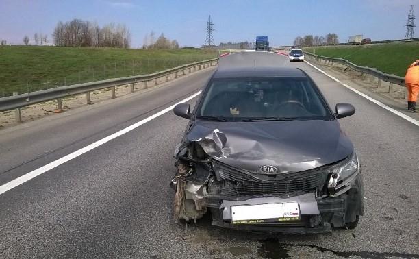 В аварии на М4 пострадал водитель «Киа»