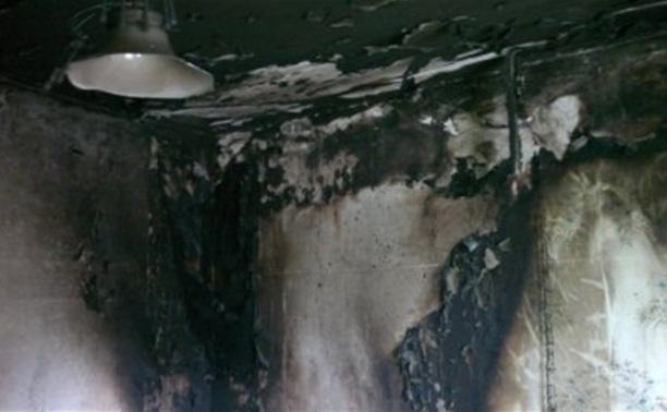 В Ефремовском районе в жилом доме сгорела квартира