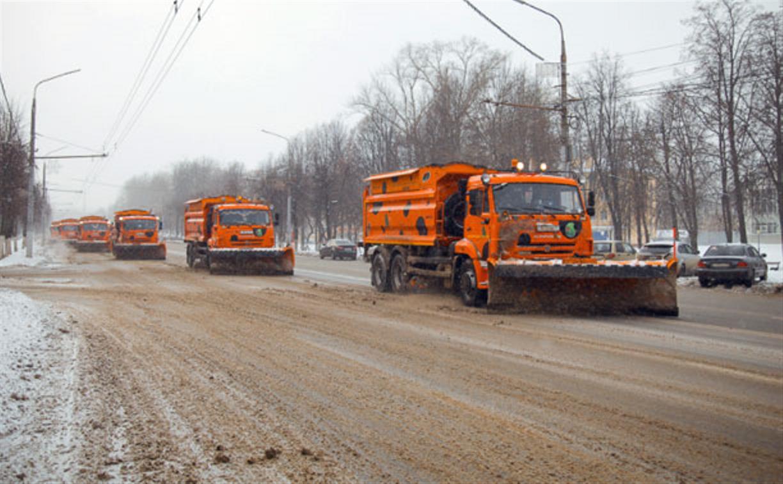 Ночью снег с улиц Тулы убирали 6 бригад рабочих