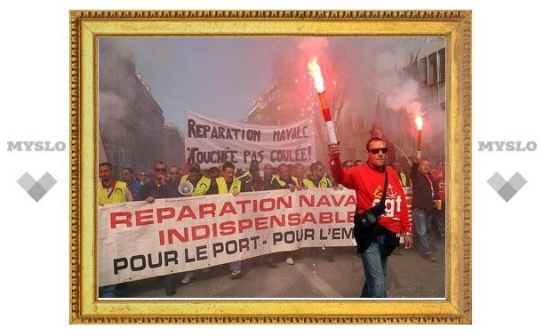 Франция оценила ежедневные убытки от забастовок